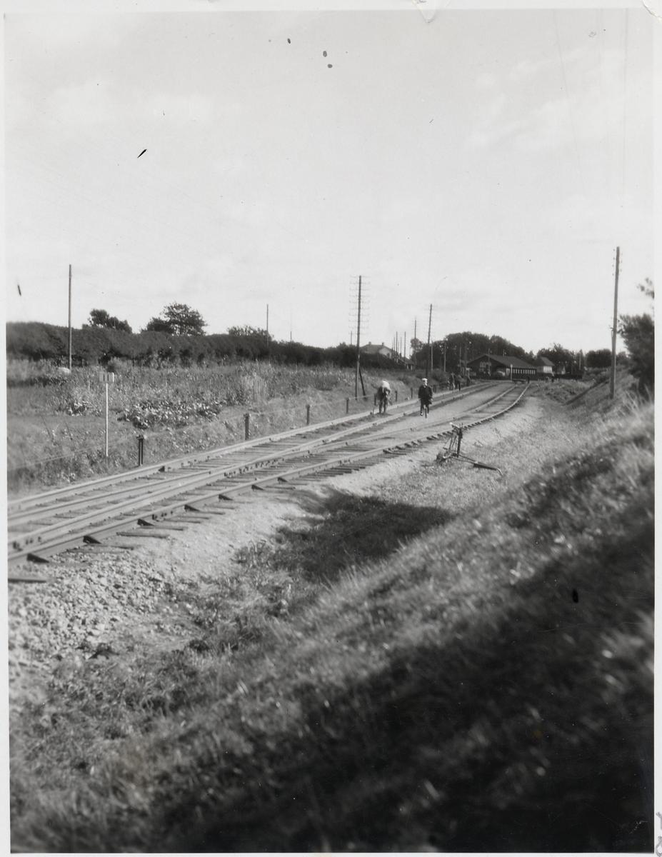 Banarbete på linjen mellan Falköping - Jönköping.