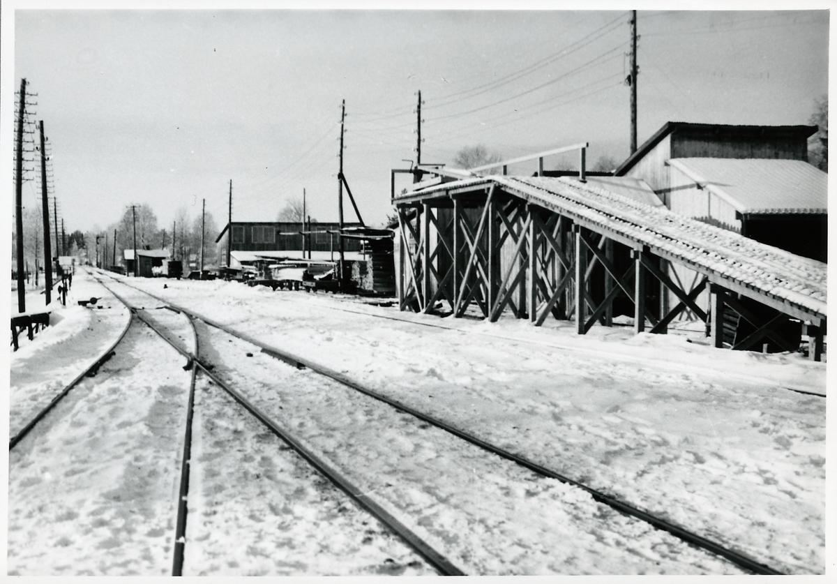 Östra änden av bangården i Ytterån.