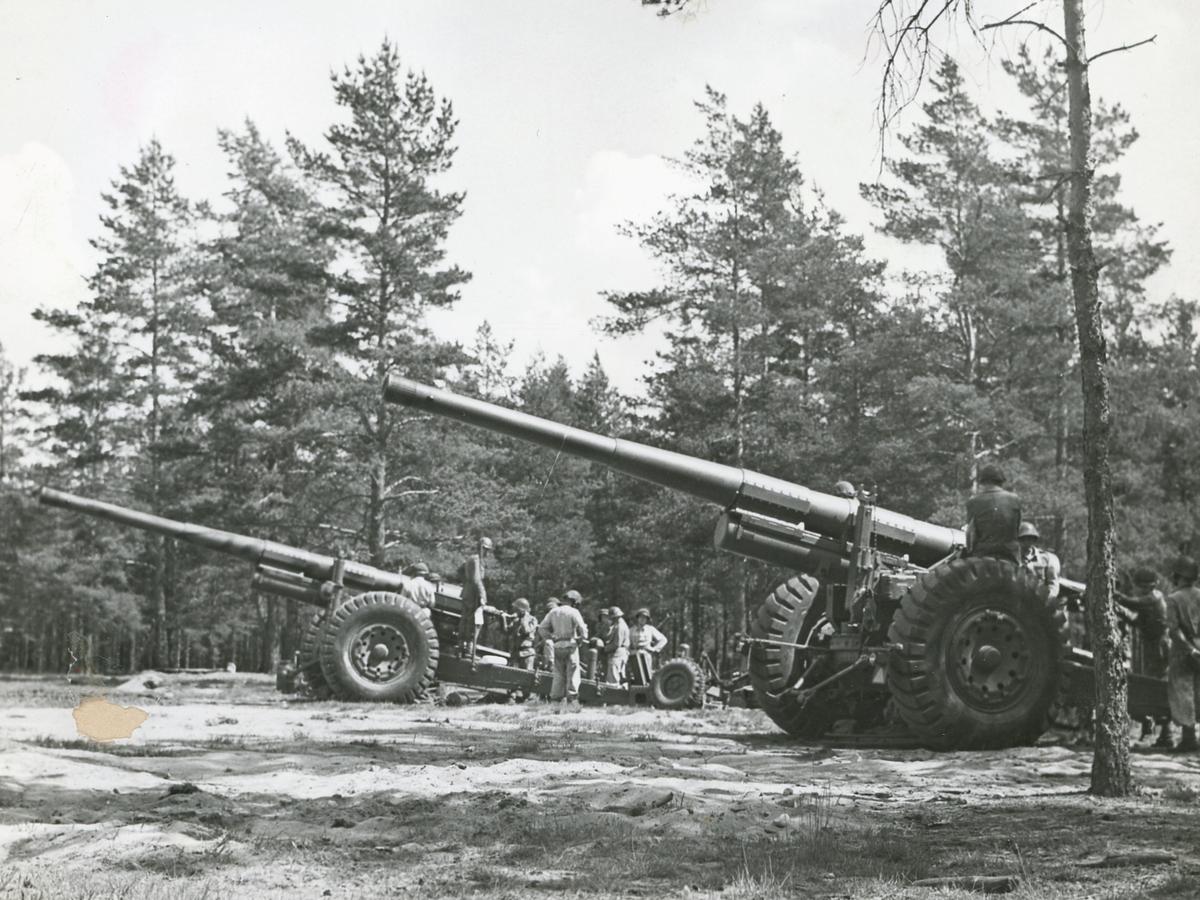15,2 cm kustartilleripjäs m/37. Skjutning