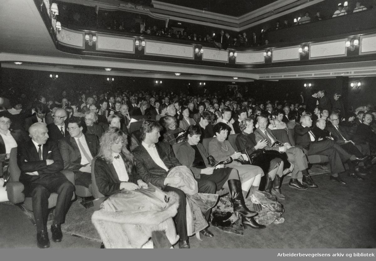 """""""Filmteatret"""". Stortingsgata 16. Desember 1985"""