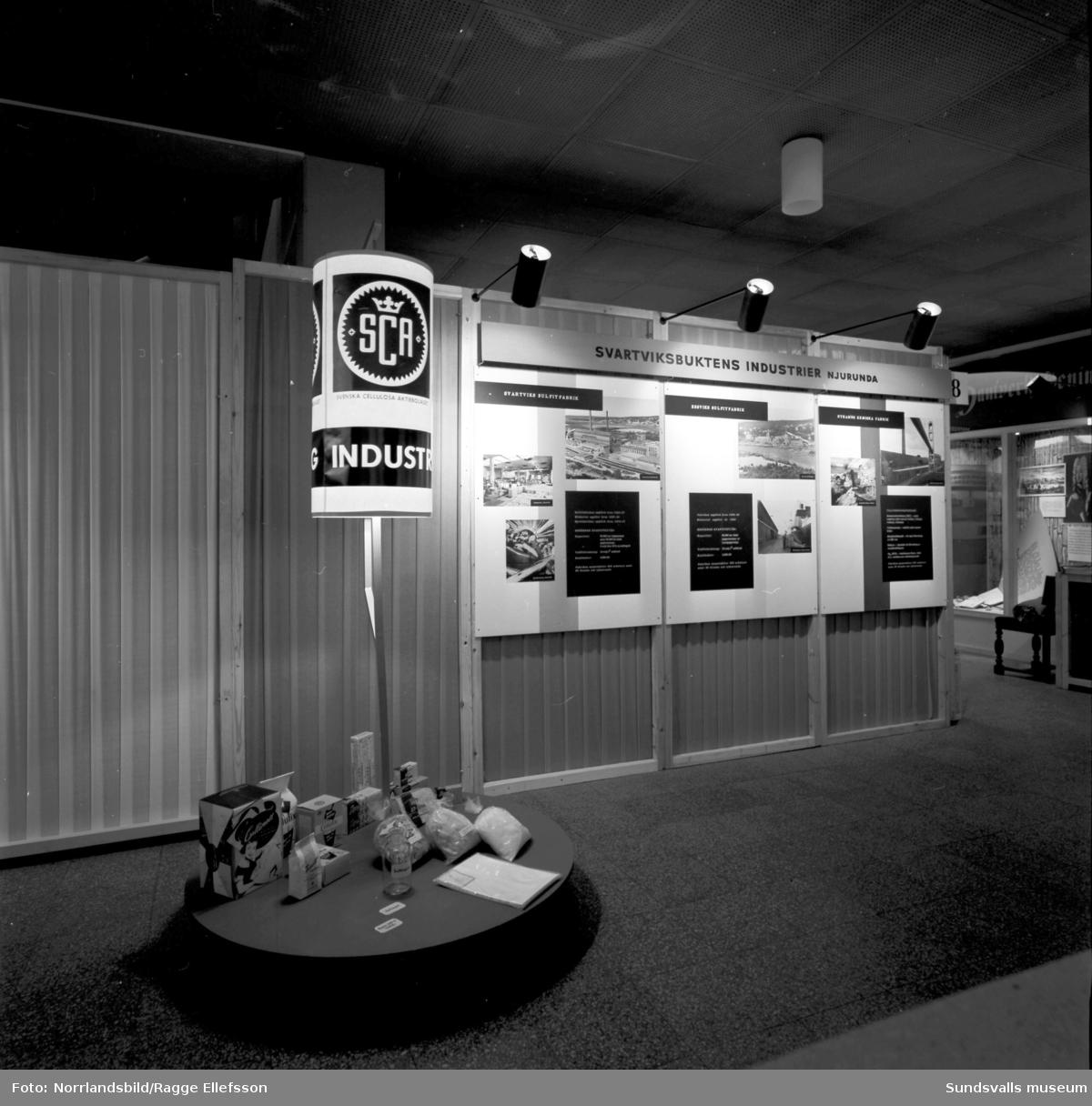 SCA:s skyltningar på Sundsvallsmässan 1963.