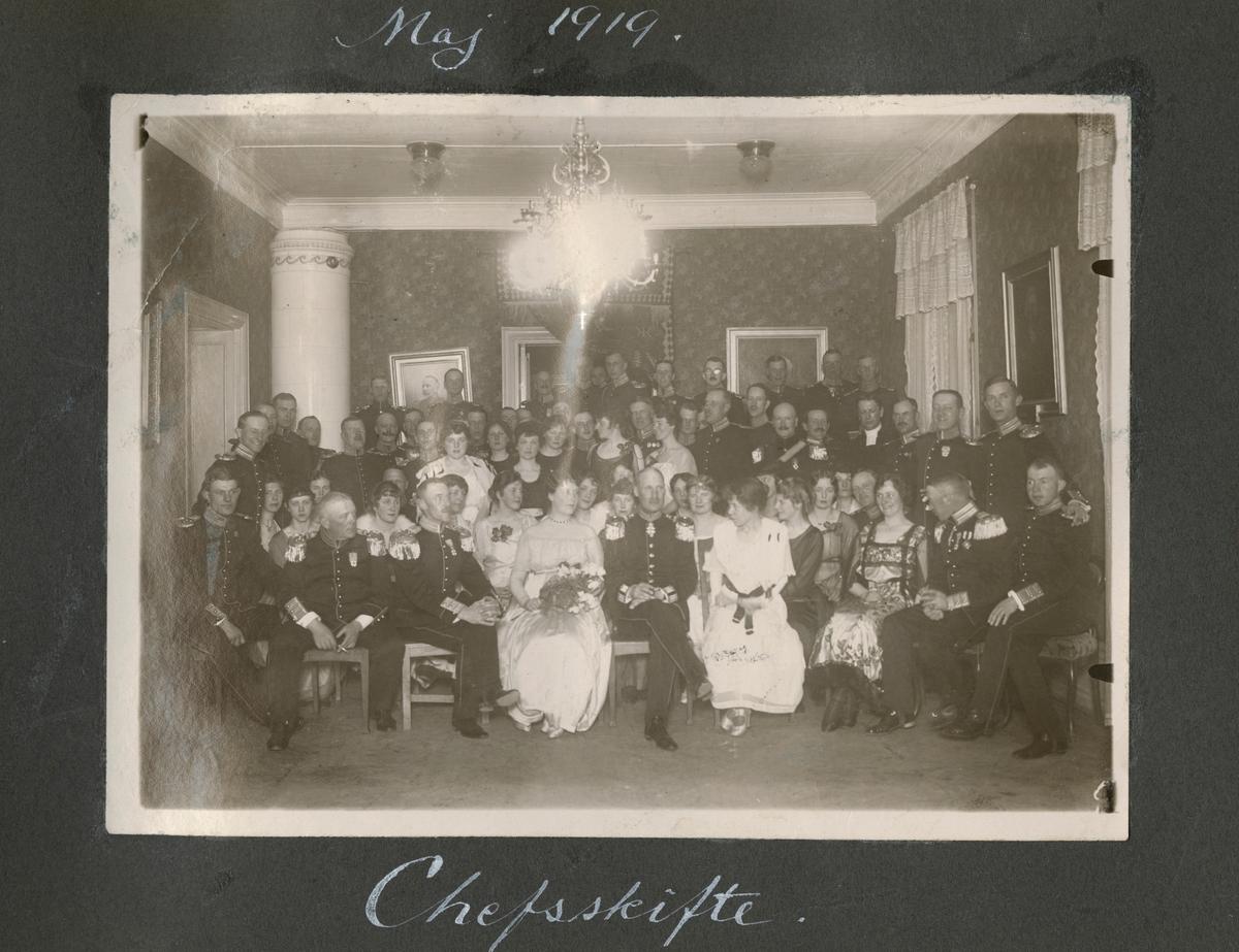 """Bildtext: """"Maj 1919 chefsskifte."""""""
