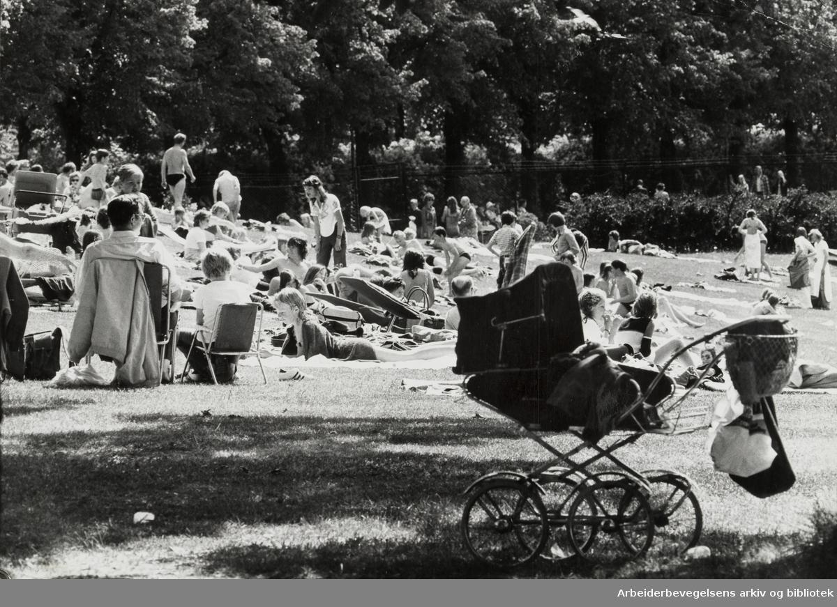 Frognerbadet. Juli 1974