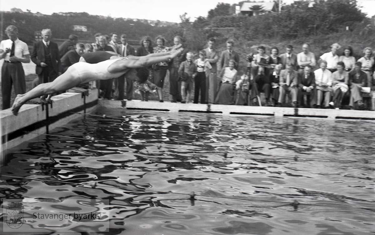 Svømmestevne i Strømvik bad .Strømvig bad / Strømvik bad
