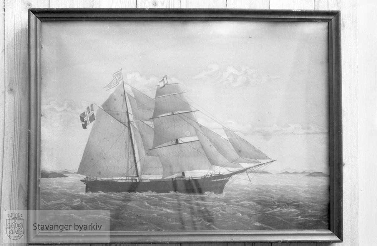 Maleri av seilskute