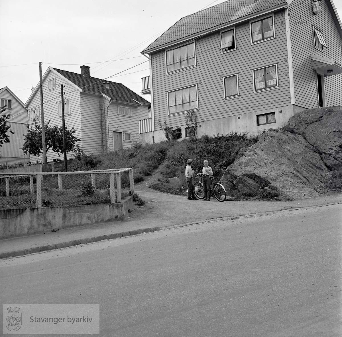 Hus i området rundt Emmausveien på Storhaug.