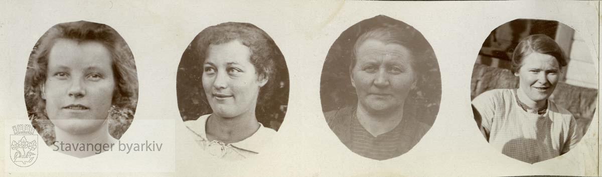 Portrett av fire kvinner