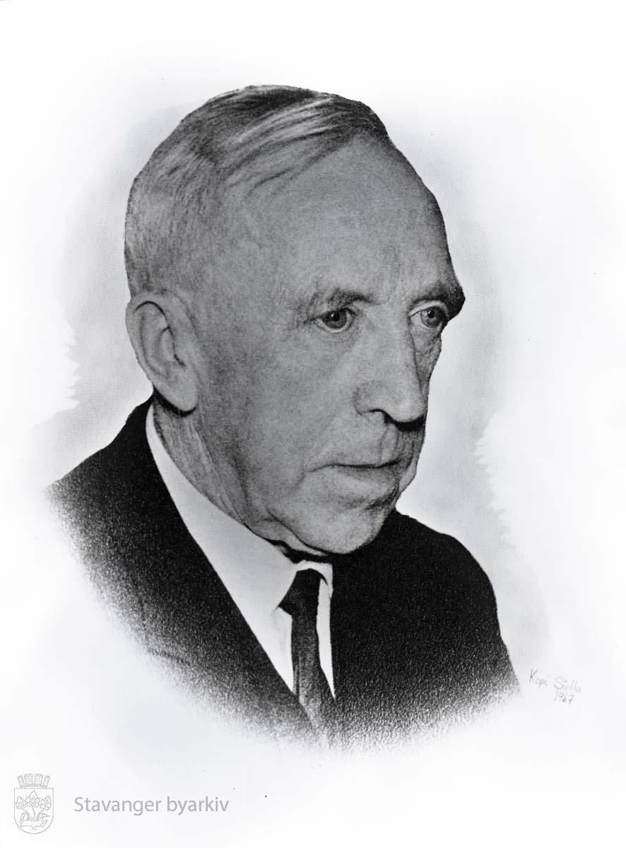 Portrett av Oscar Iversen på sine eldre dager