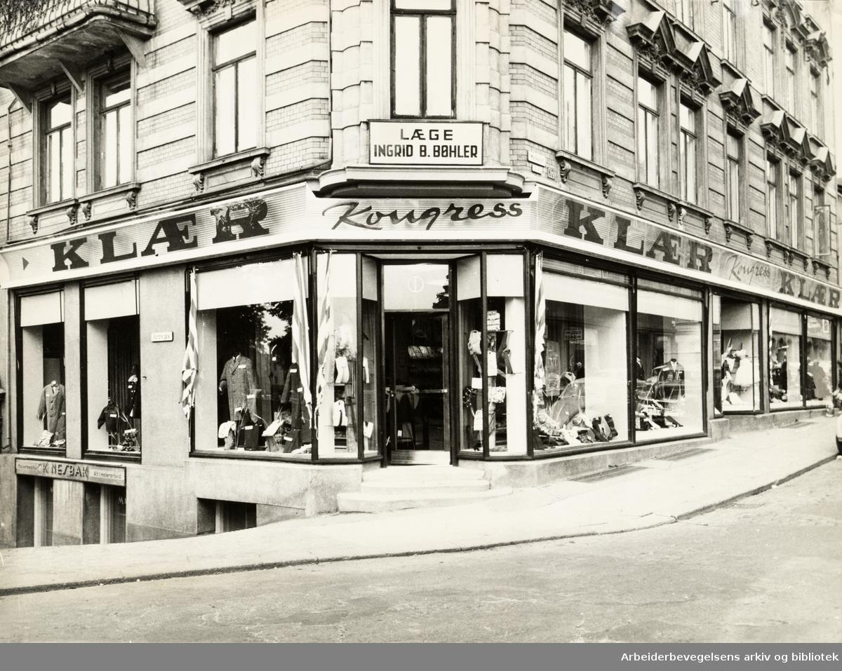 Grünerløkka. Ny Kongress-butikk i Markveien. 17. september 1960