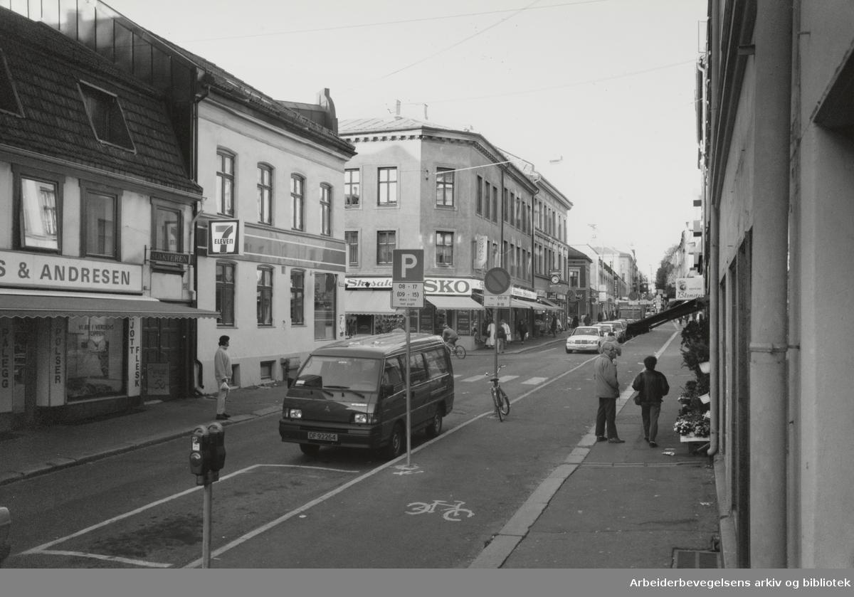 Grünerløkka. Markveien. Desember 1992