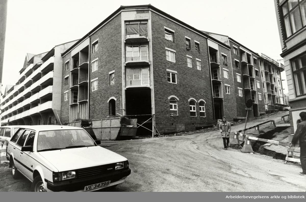 Grünerløkka. Stolmakergata. Desember 1984