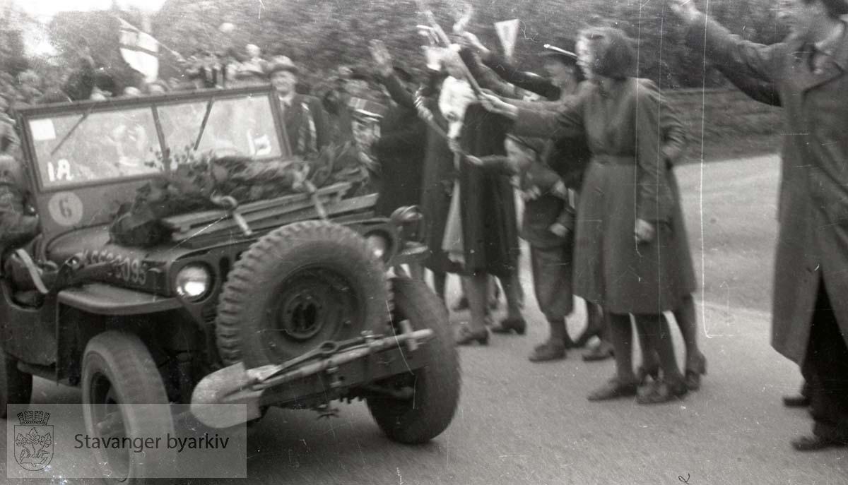 Tatt kort tid etter frigjøringen fra okkupasjonen , .2. verdenskrig. Fredsdagene 1945..