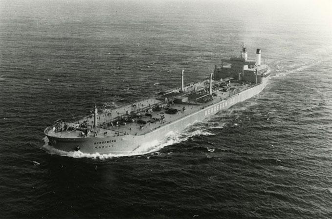 Motivet viser M/T BERGEBORG (bygget 1966) til sjøs.