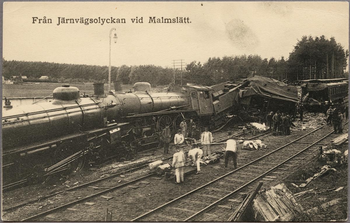 Statens Järnvägar, SJ A 1016, SJ B 1035 kolliderade vid Malmslätt station 1912.