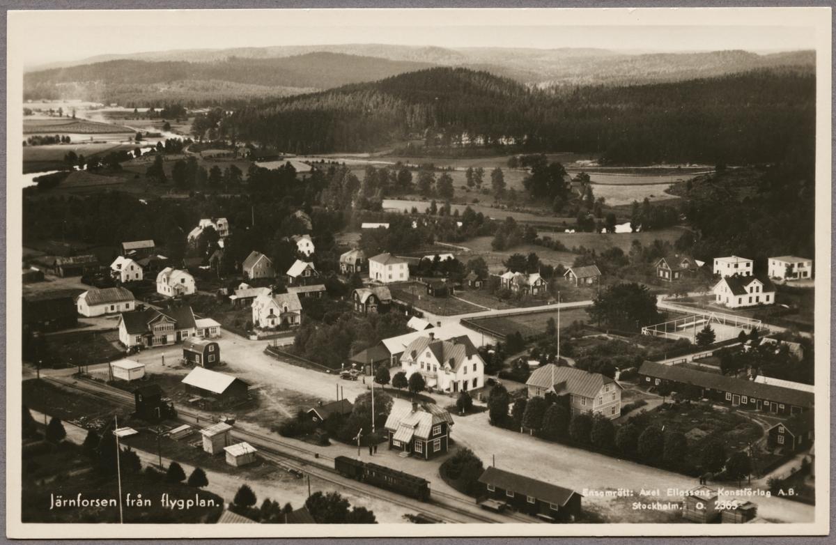 Flygfoto över Järnforsen.
