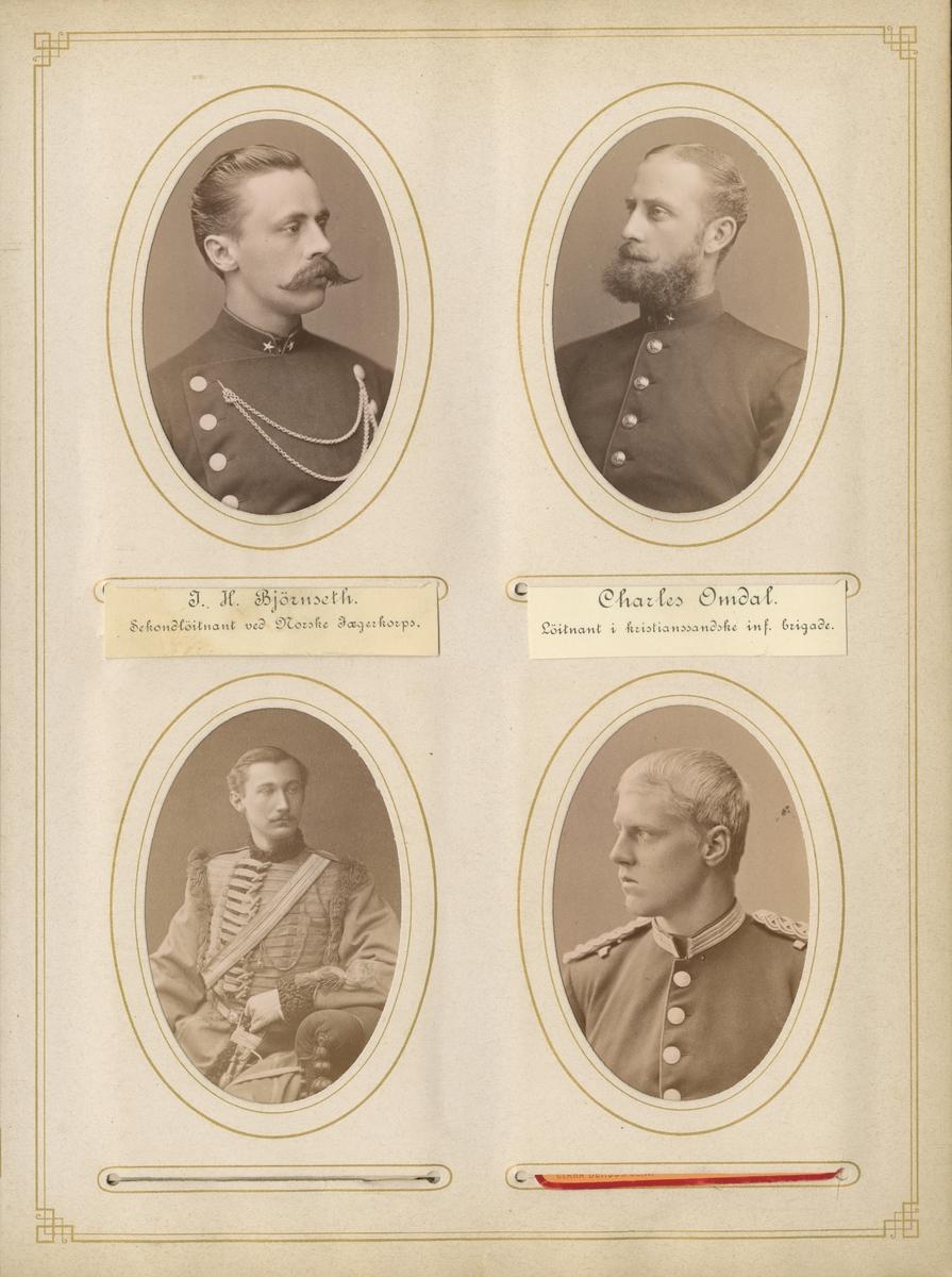 Porträtt av Claes Josef Breitholz, officer vid Andra livgardet I 2.  Se även bild AMA.0006846 och AMA.0009615.