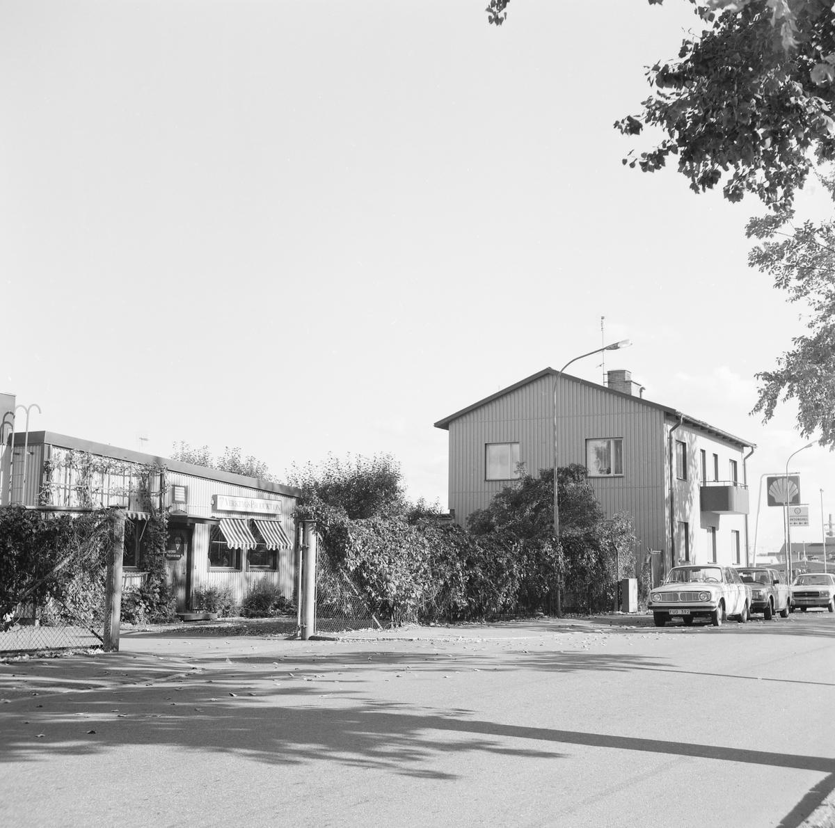 Norra området av stadsdelen Vasastaden i Linköping fick från 1900-talets mitt uteslutande bebyggelse av industriell eller affärsmässig prägel. Den hårt trafikerade Industrigatan gjorde bostadsbebyggelse mindre lämplig. Gatan tjänade därutom som del av Europaväg 4 från 1950-talets mitt till 1977. Bilden visar miljön vid den parallella Slöjdgatan.
