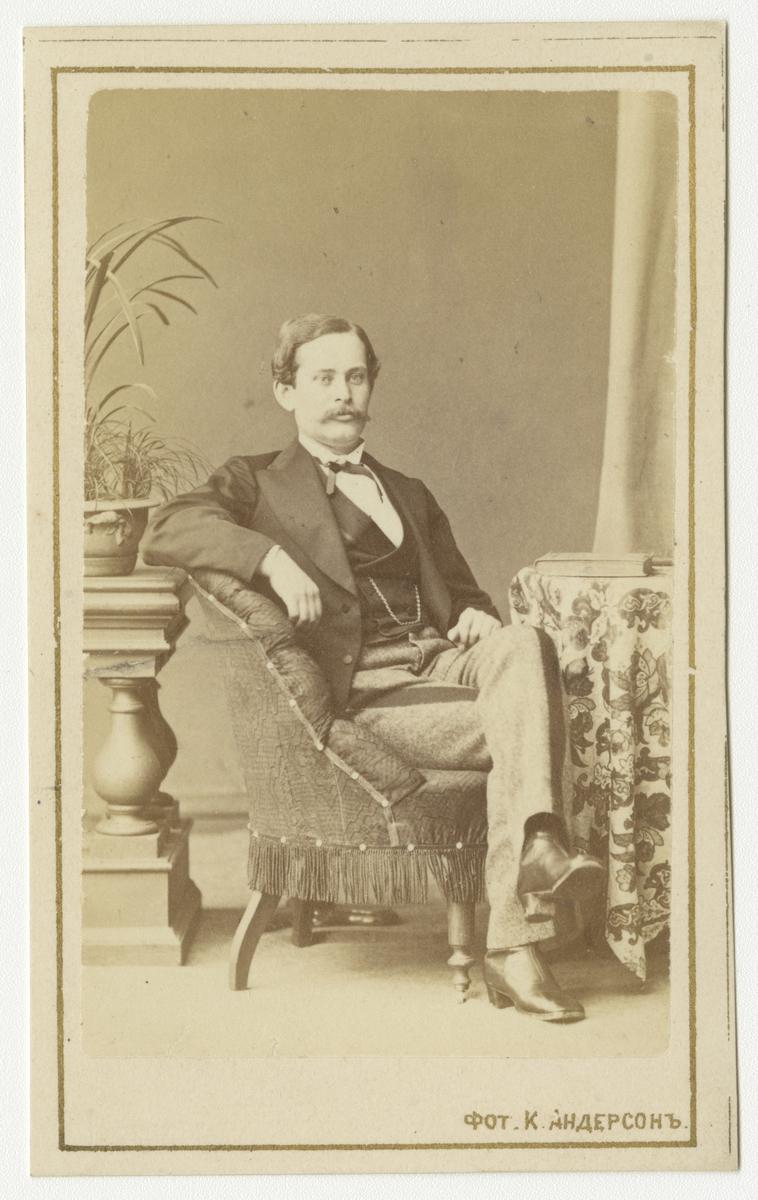 Porträtt av okänd man, Meijer, svensk i S:t Petersburg.