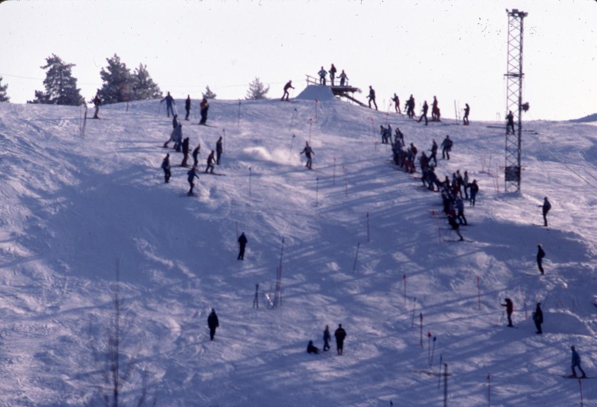 Slalomåkare i Teknikbacken.