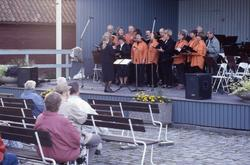 Engelbrektskören sjunger i Ahllöfsparken