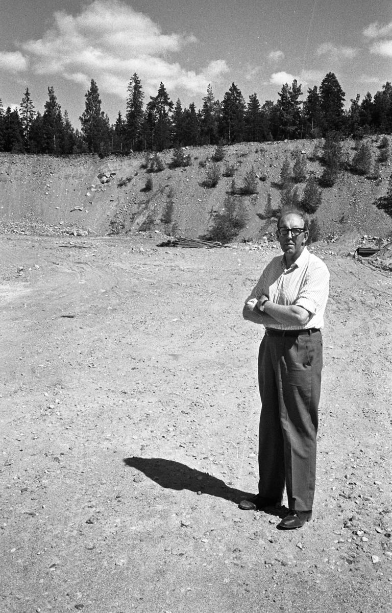 Lennart Molin vid jaktskyttebanan