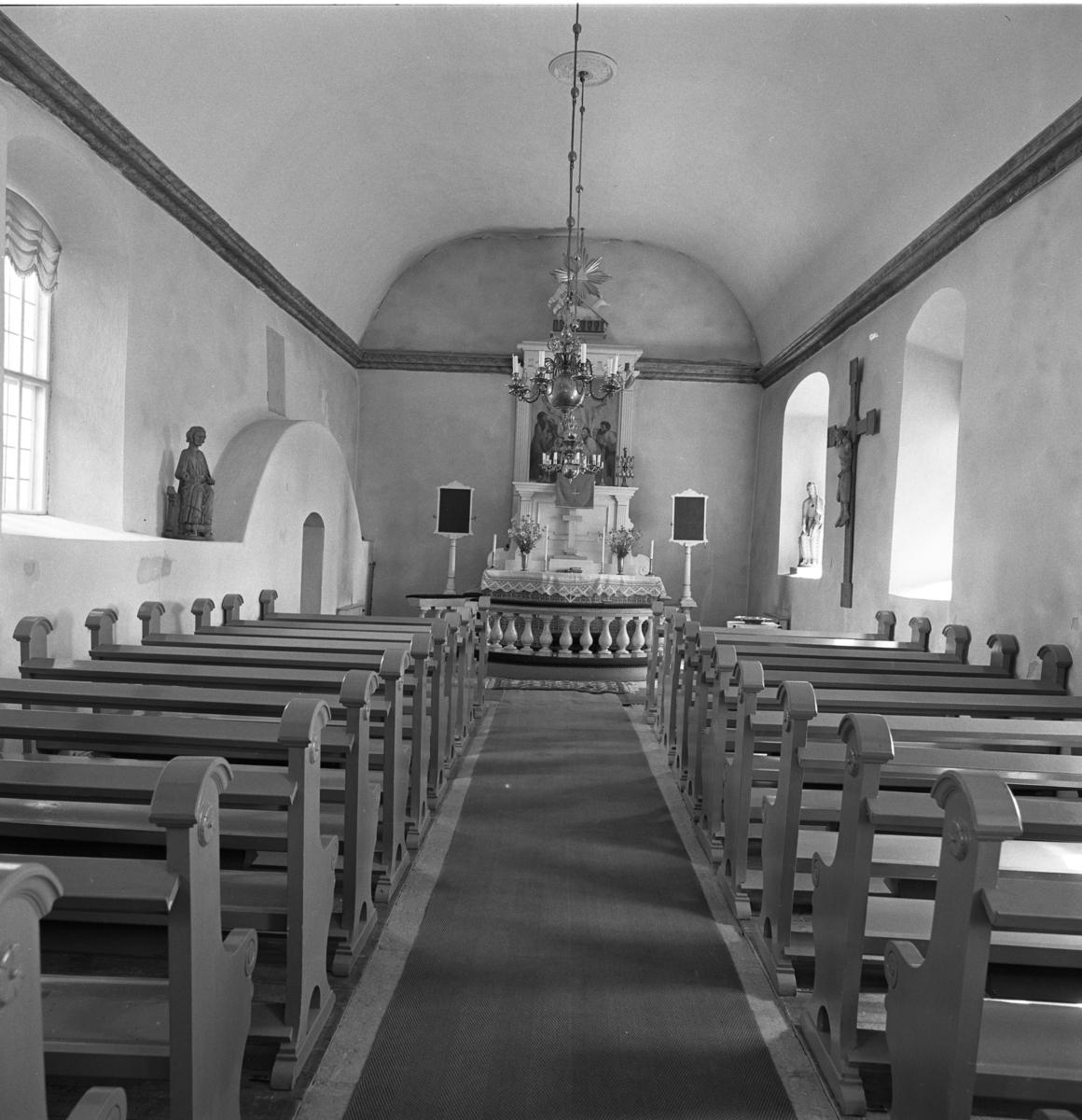 Säterbo kyrka, interiör