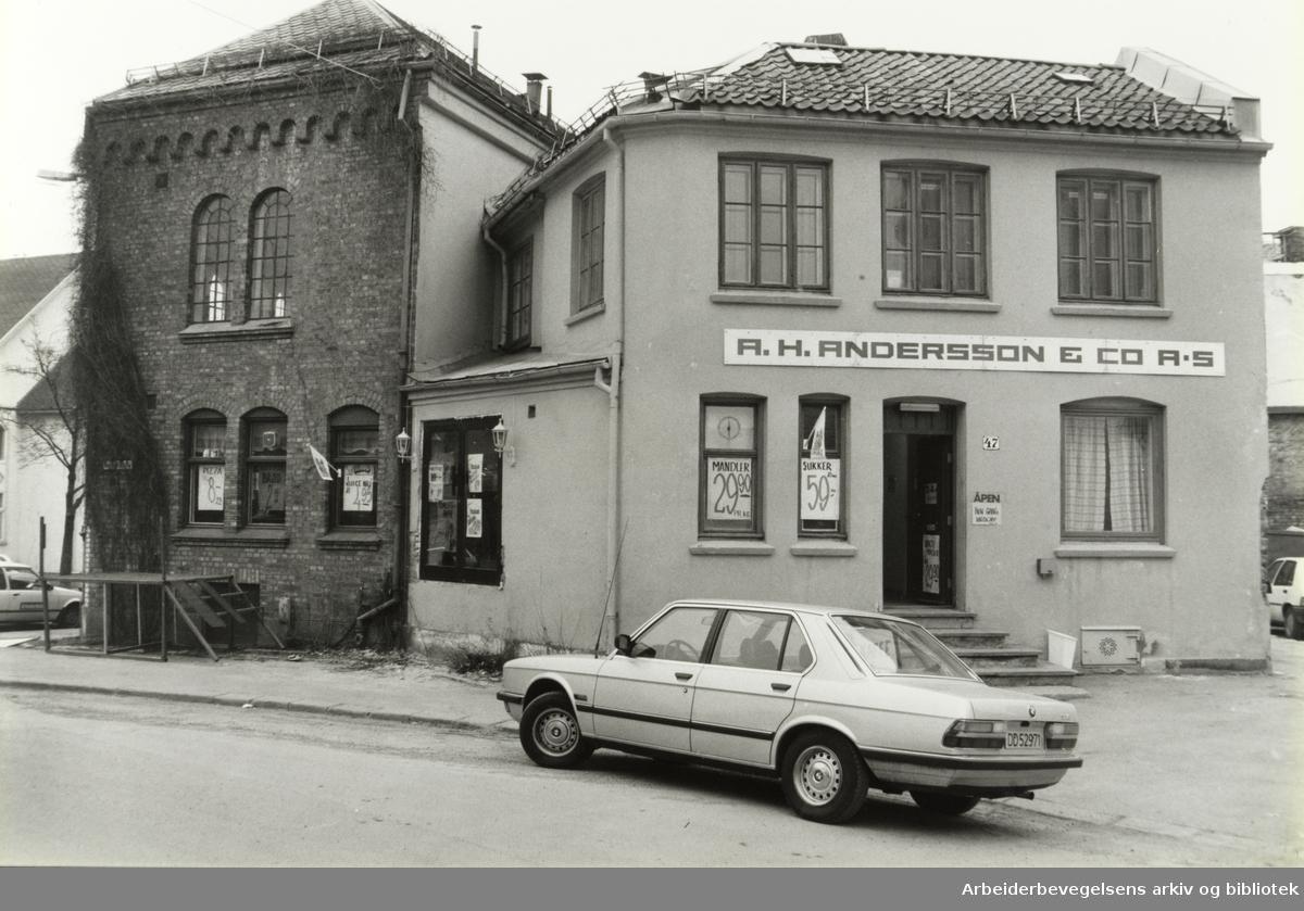 Kampen. Normannsgata 47. April 1986