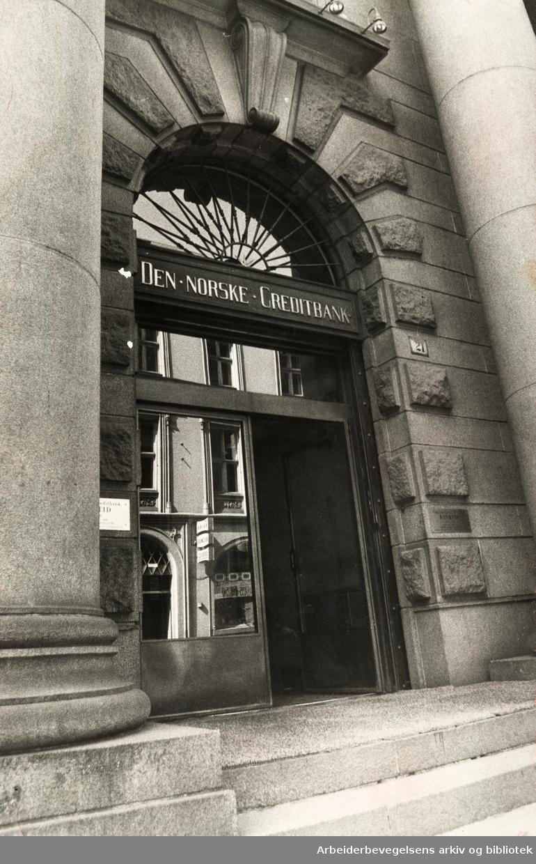 Kirkegata. Den norske Creditbank. Juni 1974