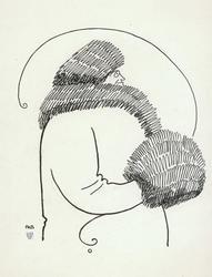 Edle Hartmann (Sfinx) [tusjtegning]