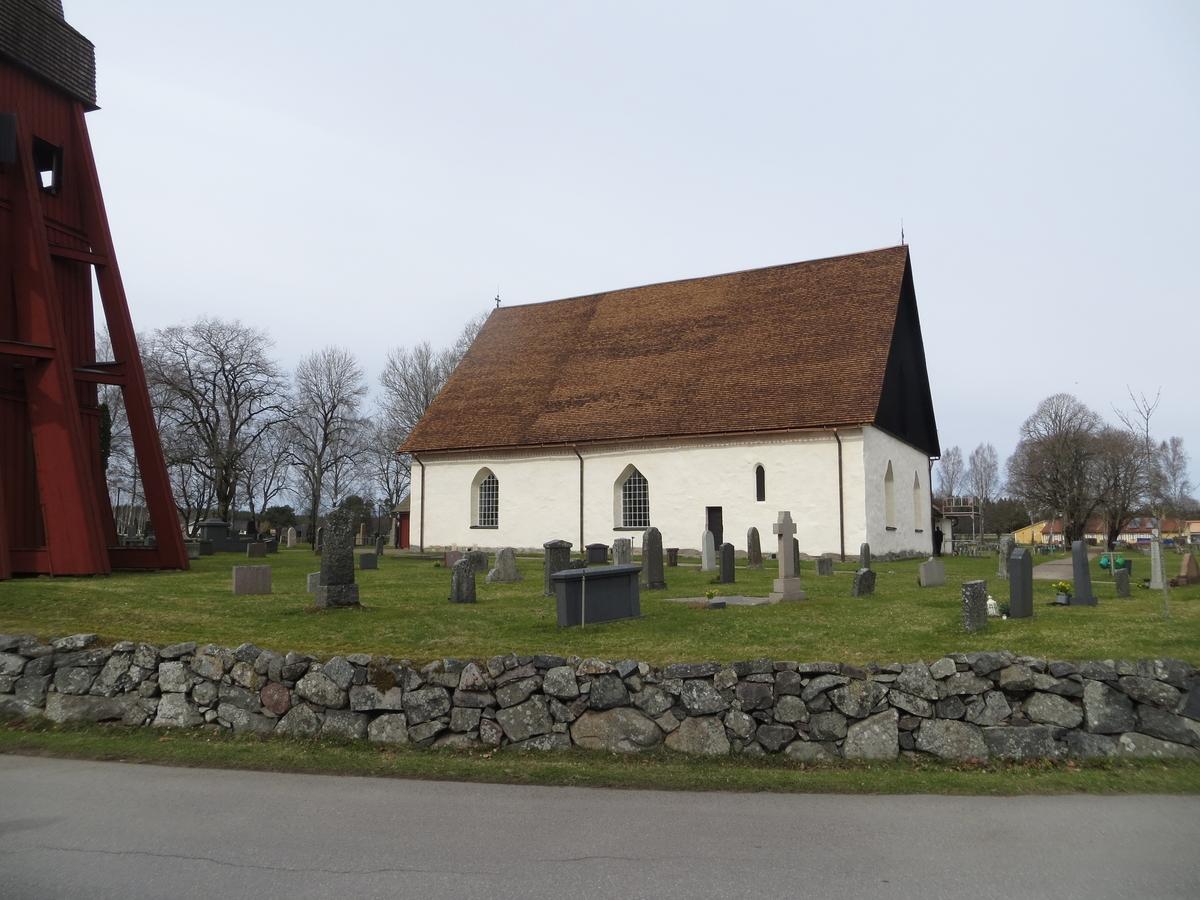 Exteriör Norra Sandsjö kyrka i Nässjö kommun.