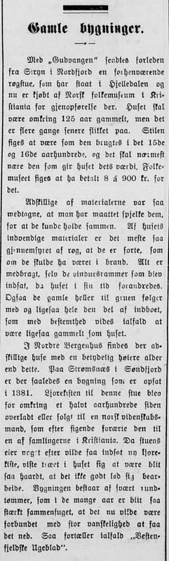 Nordre Berganhus Amtstidende 14. oktober 1911