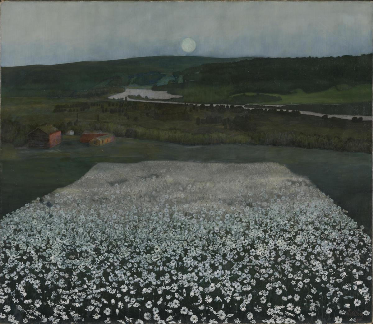 Harald Sohlberg, En blomstereng Nordpå, 1905. Nasjonalmuseet.