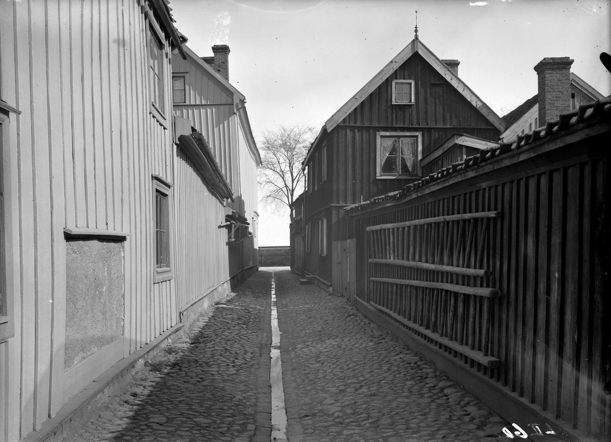 Sjögränd i Jönköping fotograferad mot norr.