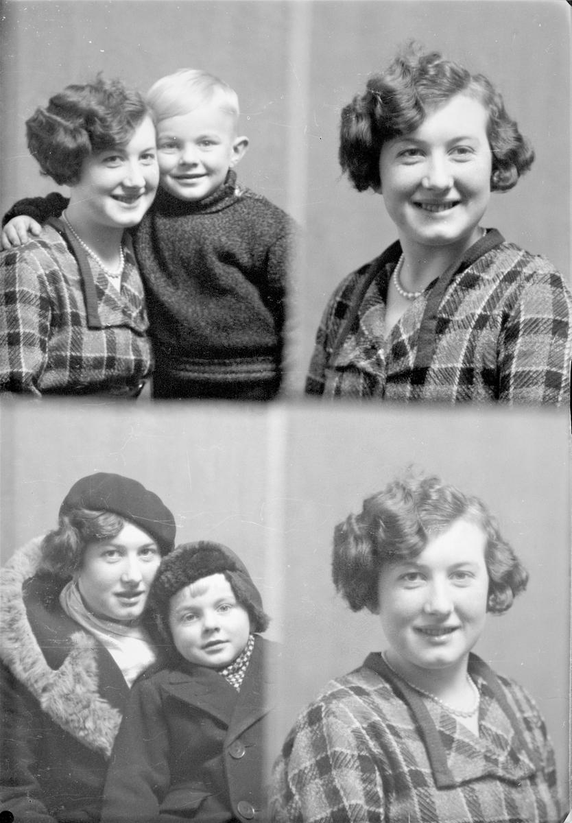 Portrett. Ung kvinne og ung gutt. Bestilt av Frk Olaug Hauge