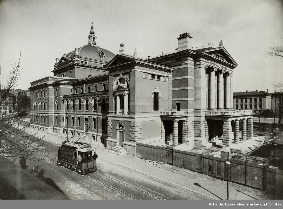 Nationaltheatret under bygging. 1890-årene.