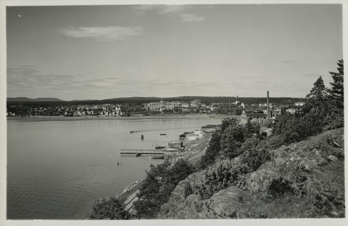 Utsikt från Köpmanberget mot Hudiksvall.