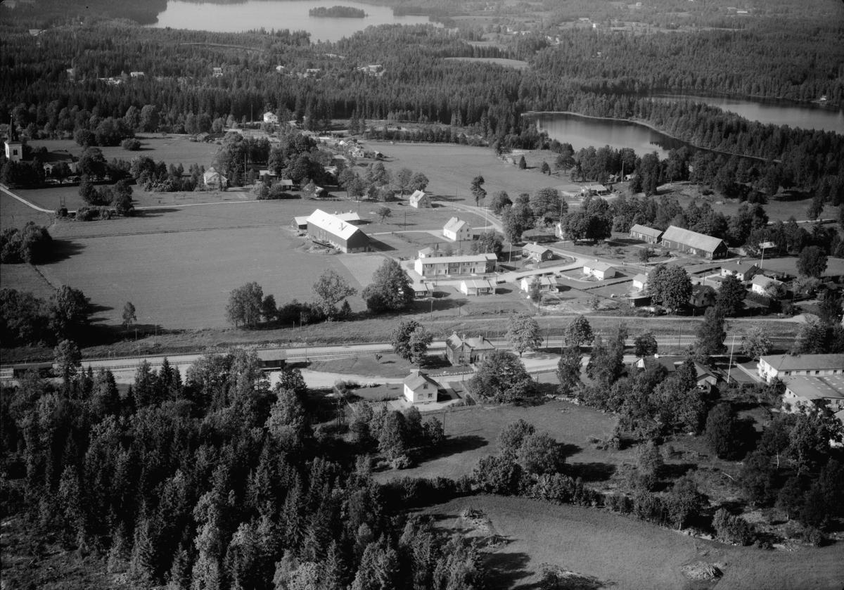 Flygfoto över Kärda i Värnamo kommun, Jönköpings län. Nr: 155/1960