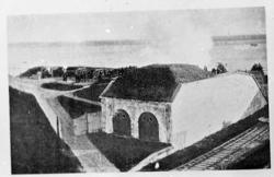 Skarpskjutning år 1896 med 23 cm.