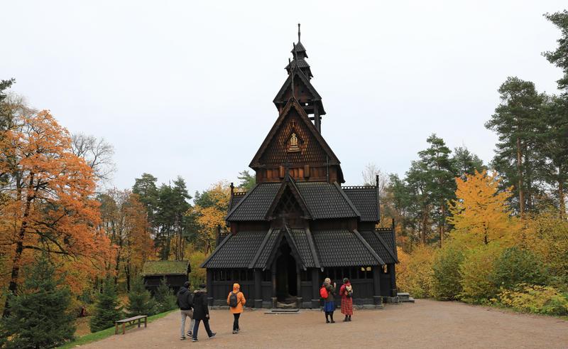Gol Stavkirke på Norsk Folkemuseum 2019. Foto: Astrid Santa, Norsk Folkemuseum (Foto/Photo)