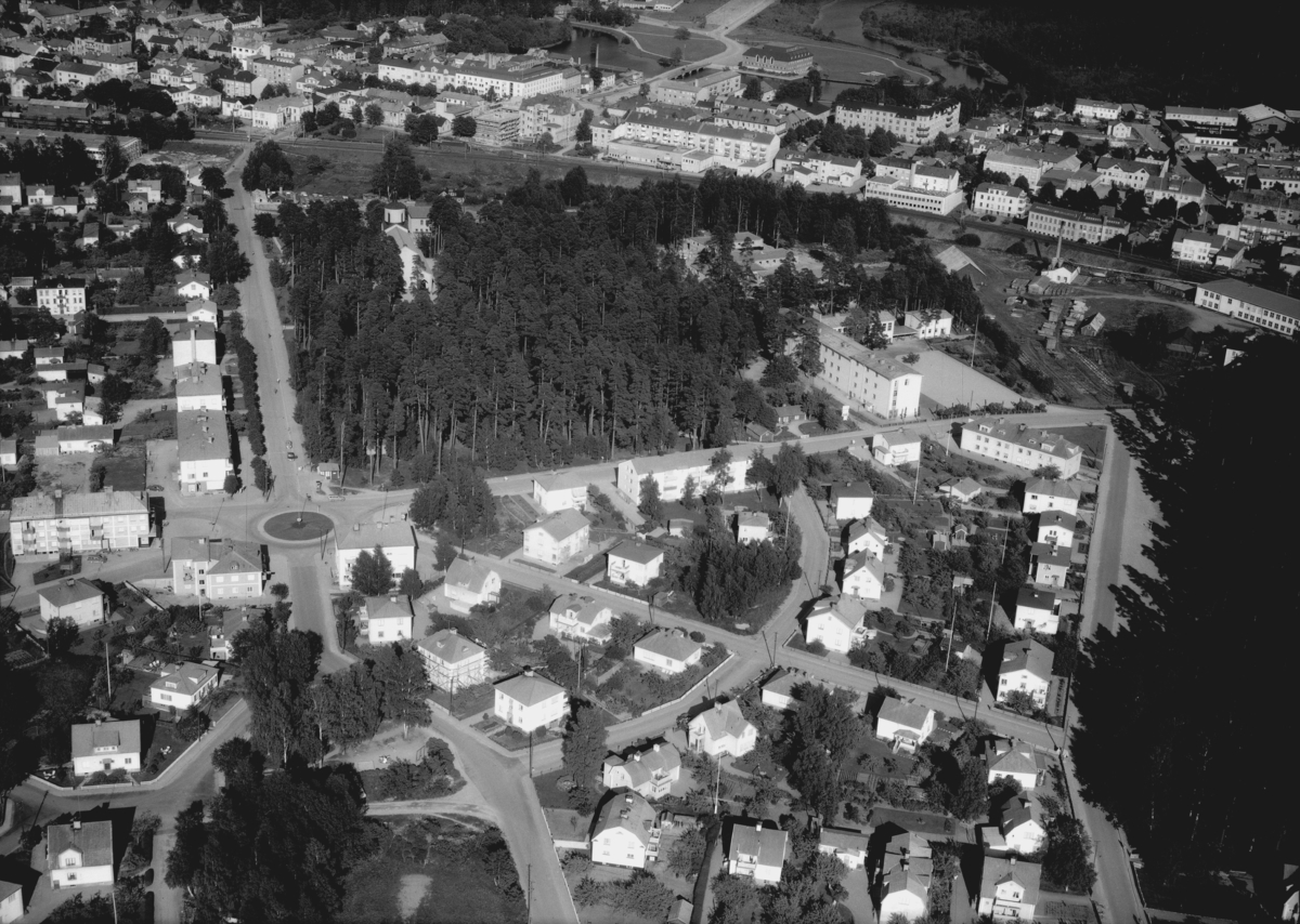 Flygfoto över Tranås i Jönköpings län. Nr: 701/1961