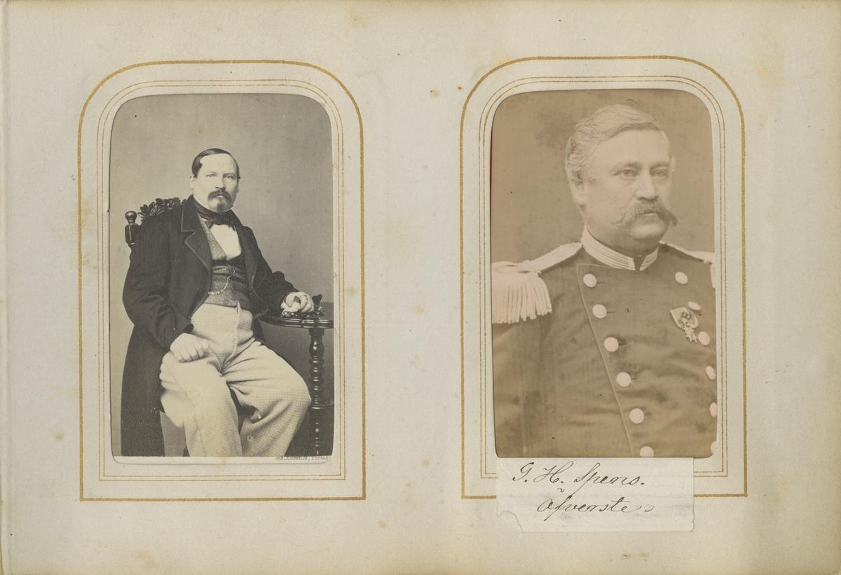 Porträtt av Gustaf Harald Spens, överste vid Andra livgrenadjärregementet I 5.  Se även bild AMA.0001915 och AMA.0009531.