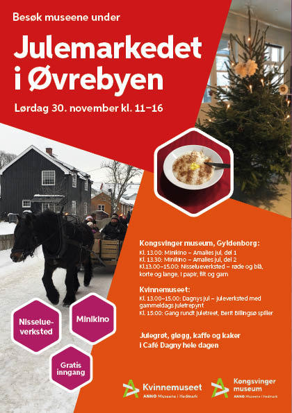 Plakat, Julemarked i Øvrebyen 2019 (Foto/Photo)