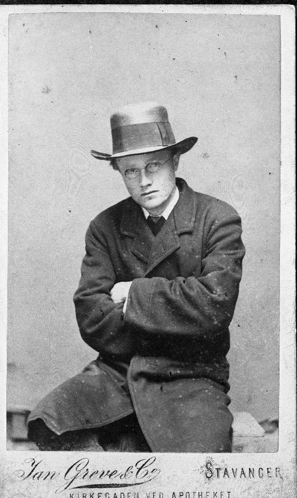 Morderen Lars Eriksen fotografert i 1888.