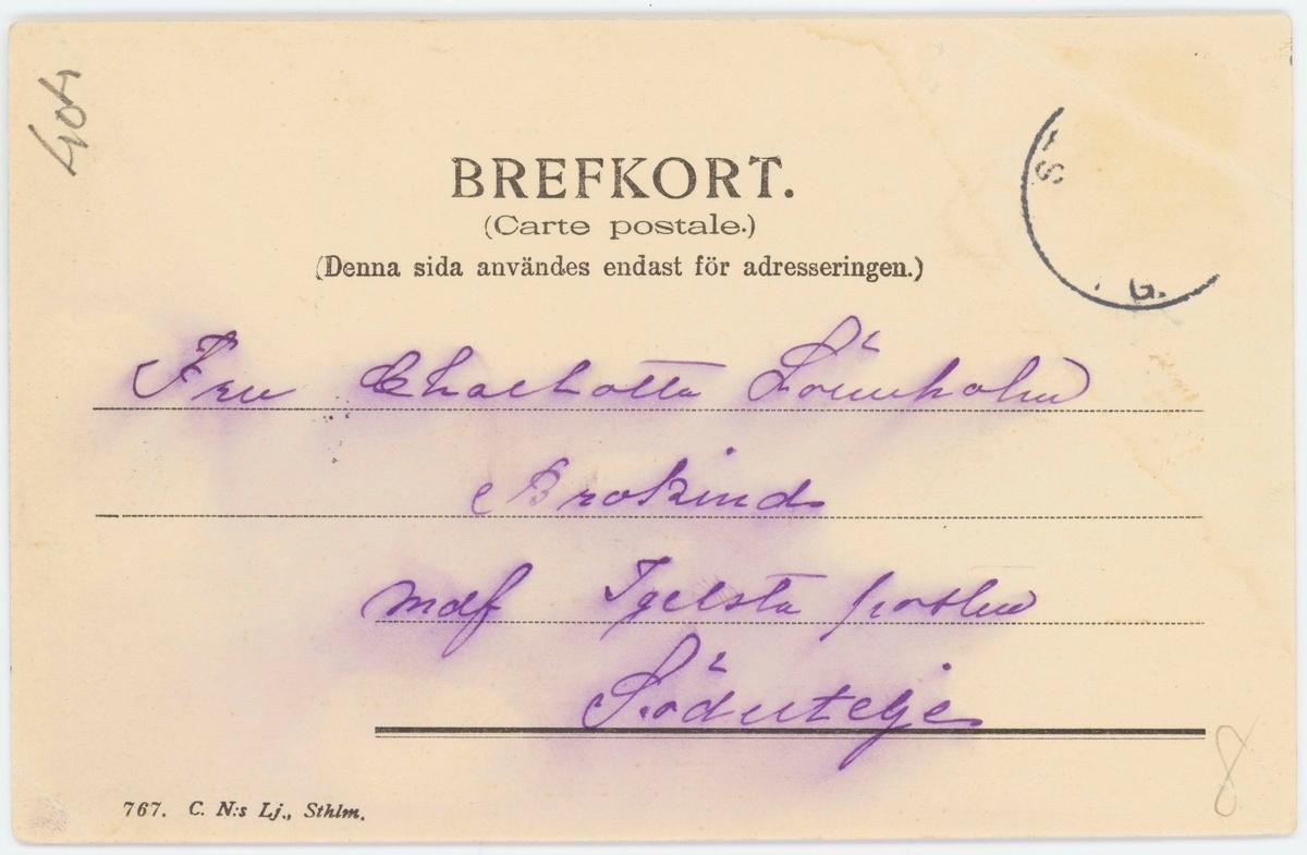 """Vykort med motiv från Skansen.""""Parti från Skansen"""". Skånska gruvan."""