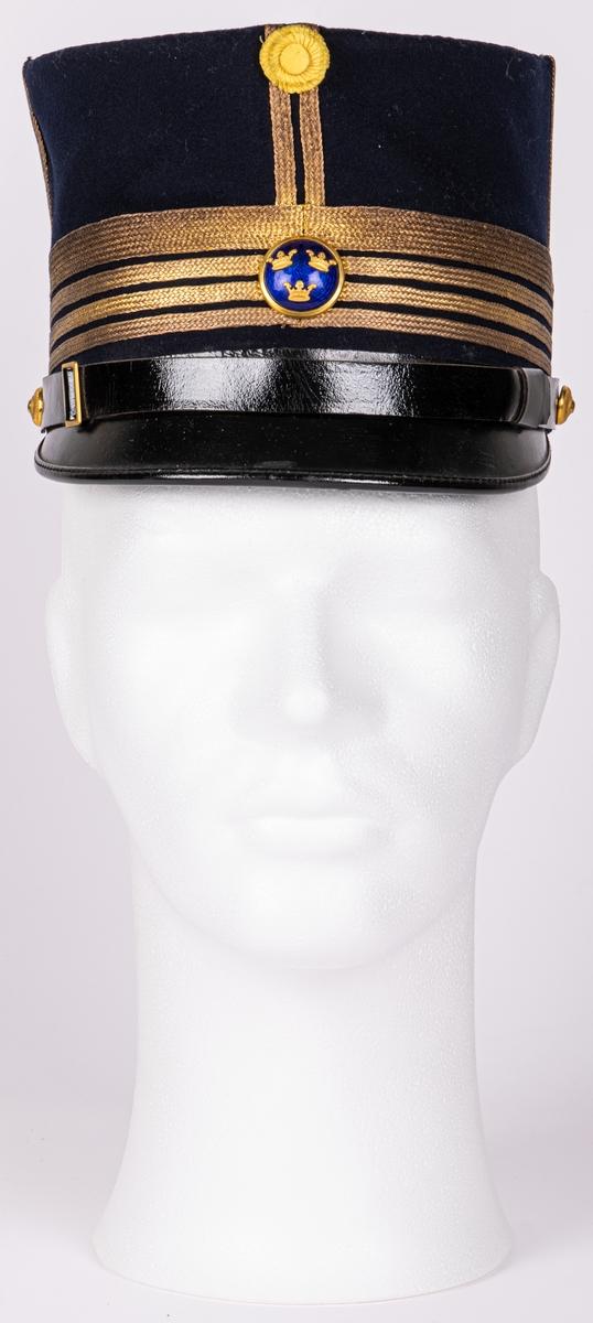 Uniformsmössa till översteuniform.