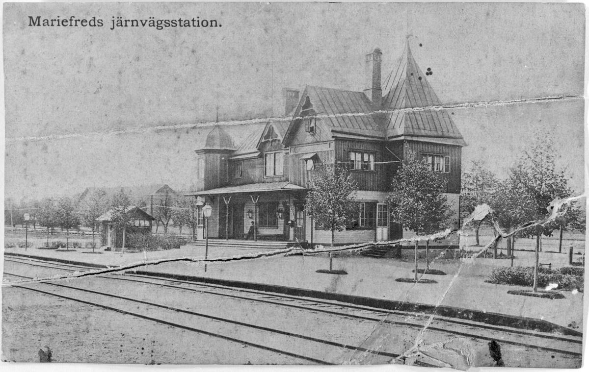 Järnvägsstationen i Mariefred.