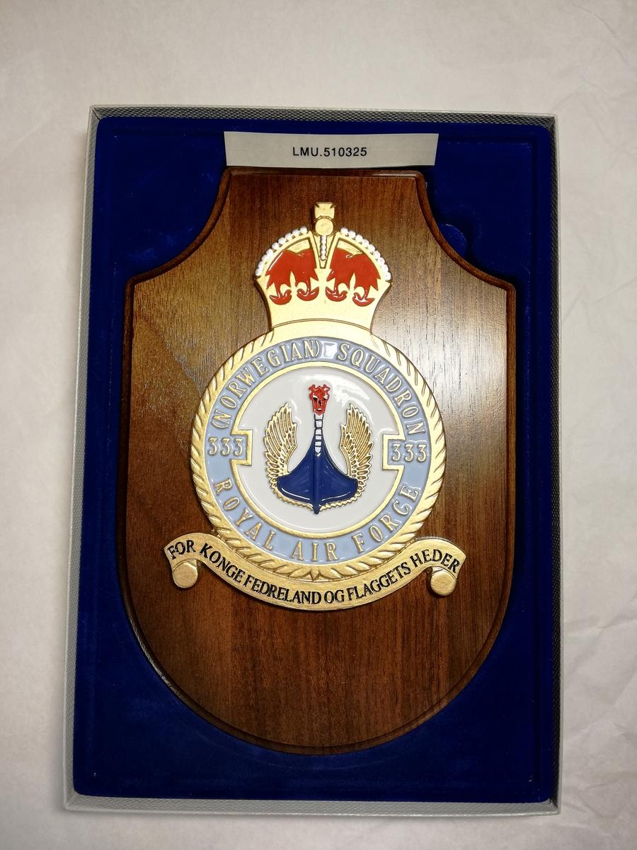 Våpenskjold 333 skv underlagt Royal Airforce under 2. verdenskrig