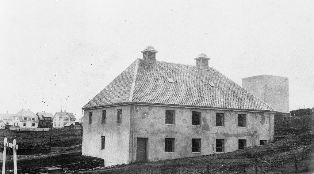 Grisehuset til Jæren Meieri tidleg i 1930 åra.