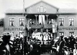 Godtemplarfest med arrangörer i Halmstads Vattenkuranstalts