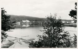 Bron över Ljungan vid Viskan. Vykort.